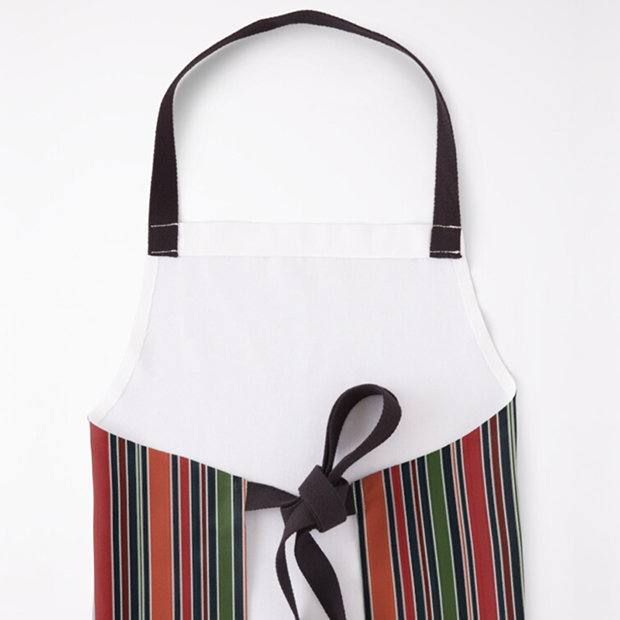 Navy Stripe Apron by Annie C Designs at Redbubble