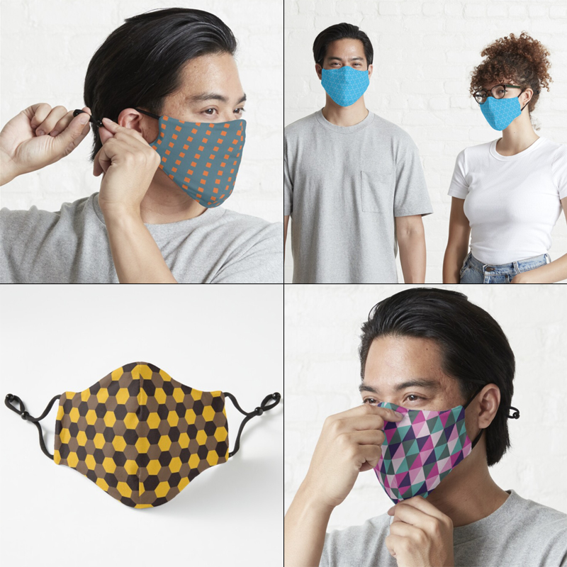 Fitted Masks by Annie C Designs on Redbubble
