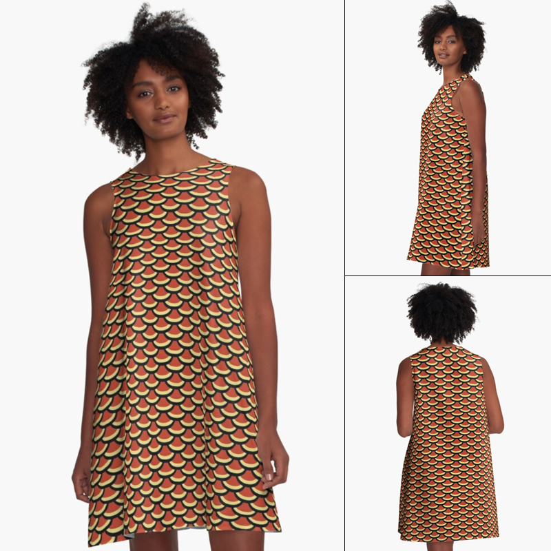 Scales A-Line Dress by Annie C Designs on Redbubble