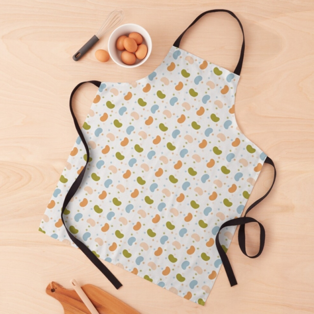 Beans & Stars Apron by Annie C Designs at Redbubble