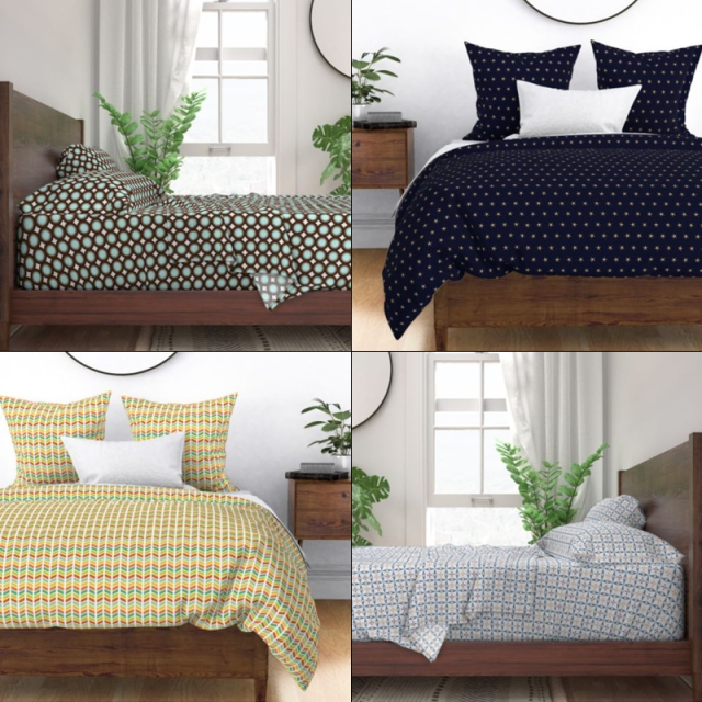 Bedding by Annie C Designs on Spoonflower