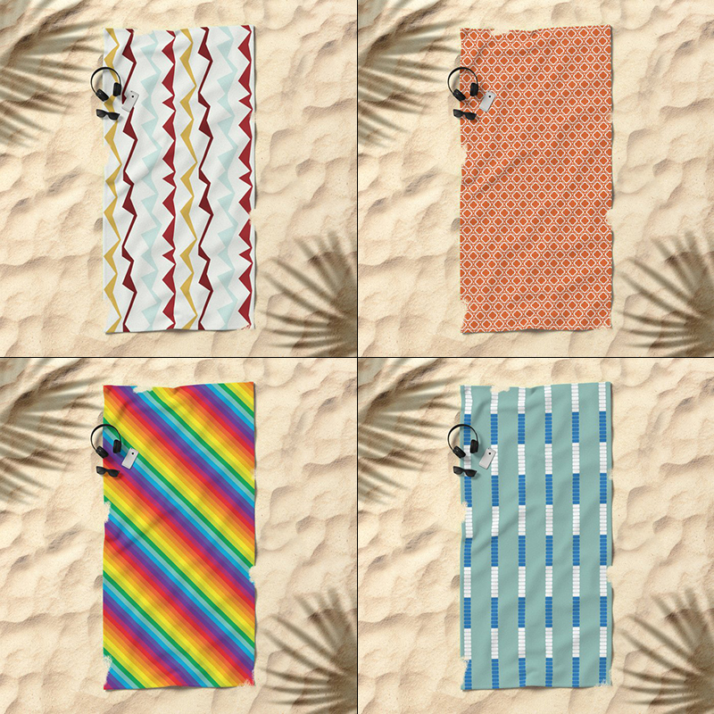 Beach Towels by Annie C Designs on Society6