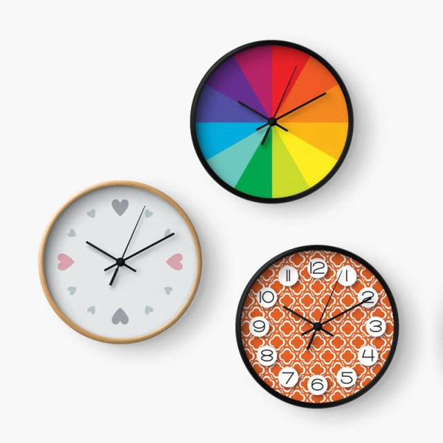 Wall Clocks by Annie C Designs on Society6 & Redbubble