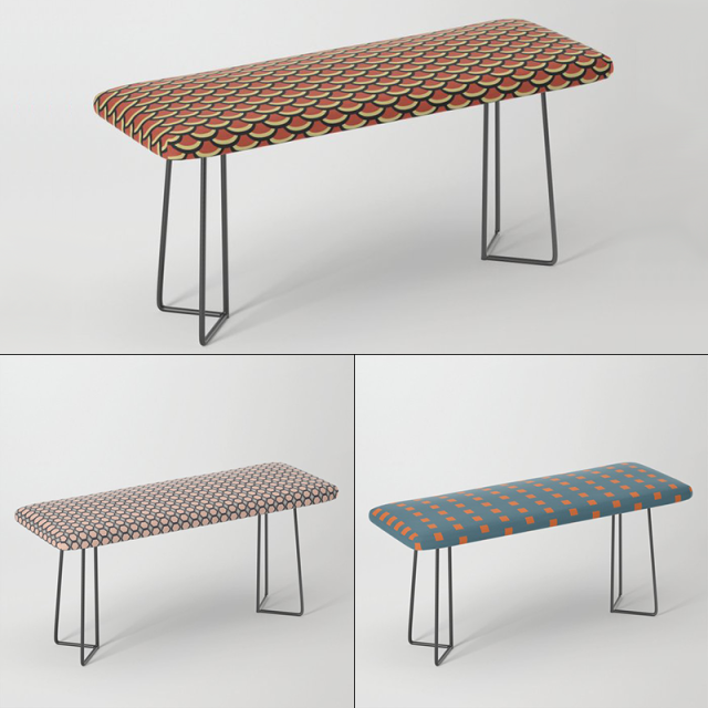 Benches by Annie C Designs at Society6