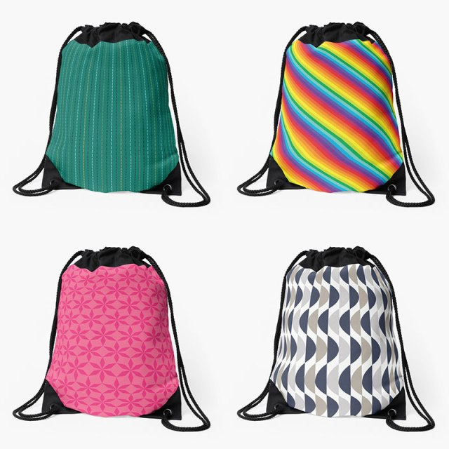 Drawstring Bags by Annie C Designs at Redbubble