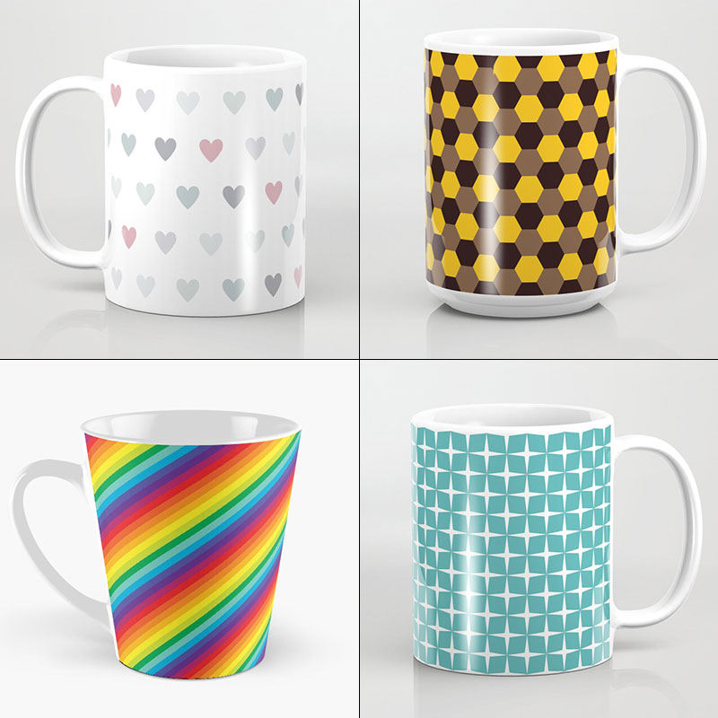 Coffee Mugs by Annie C Designs at Redbubble and Society6