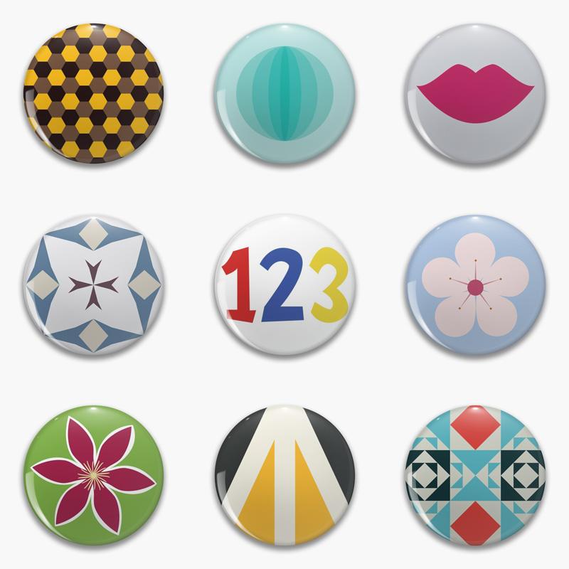Round Pinback Button Pins by Annie C Designs at Redbubble