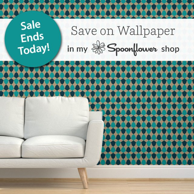 Irregular Hex Wallpaper by Annie C Designs at Spoonflower