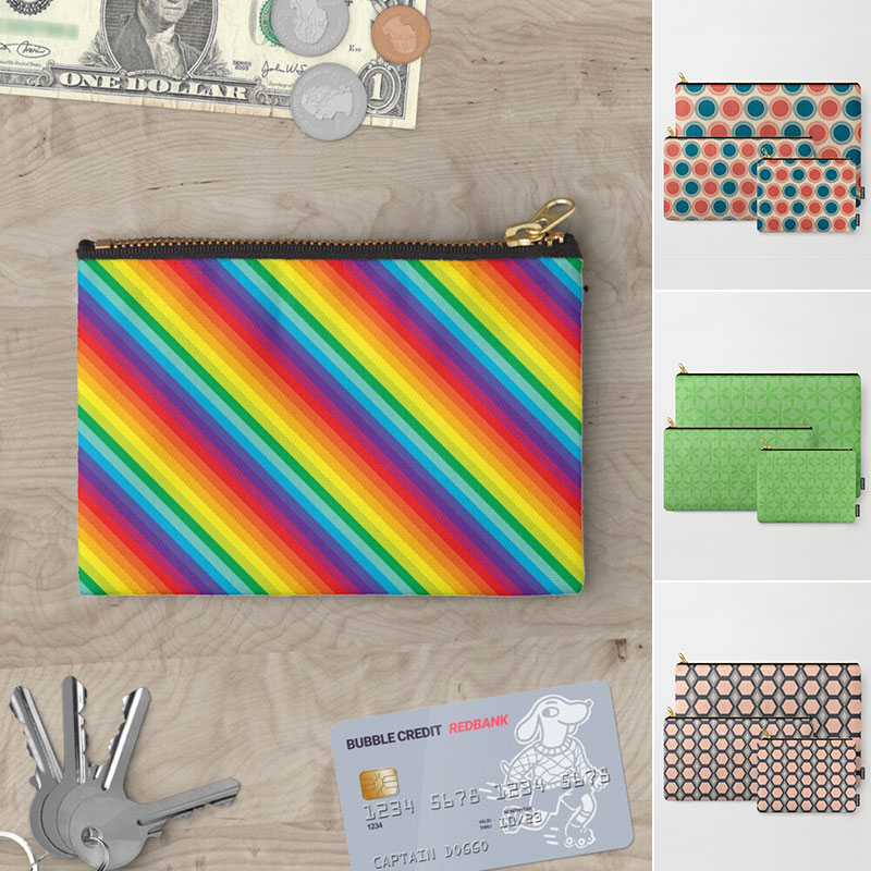 Zippered Carry-All Pouches by Annie C Designs at Society6