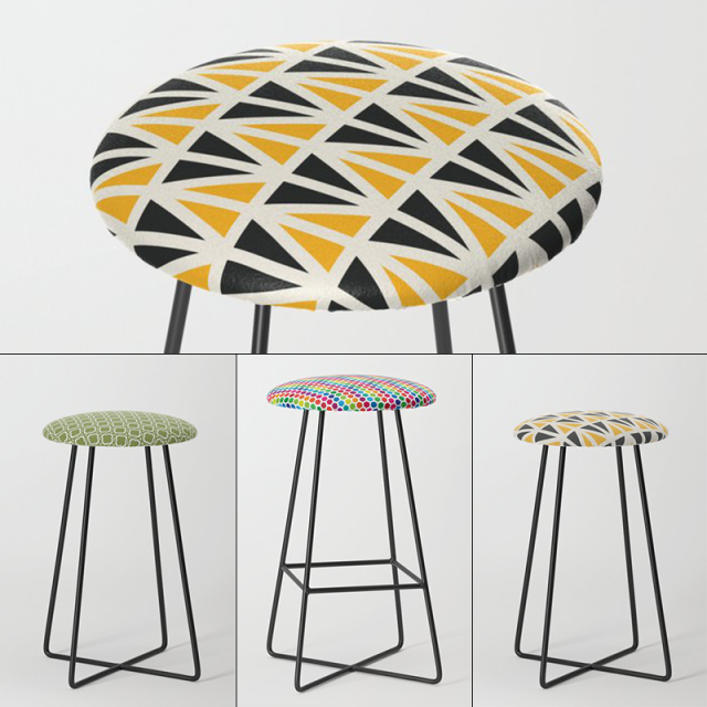 Stools by Annie C Designs at Society6
